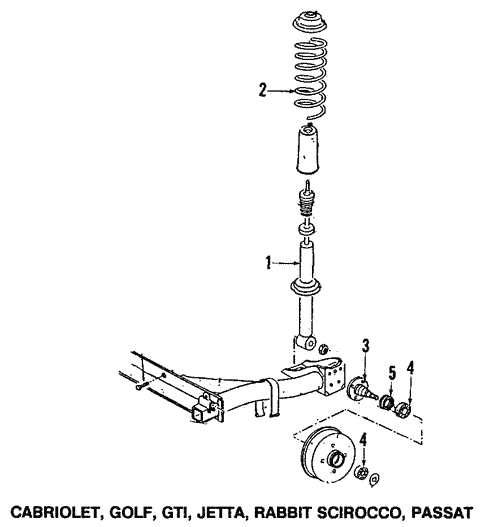 Rear Axle for 1991 Volkswagen Corrado #0
