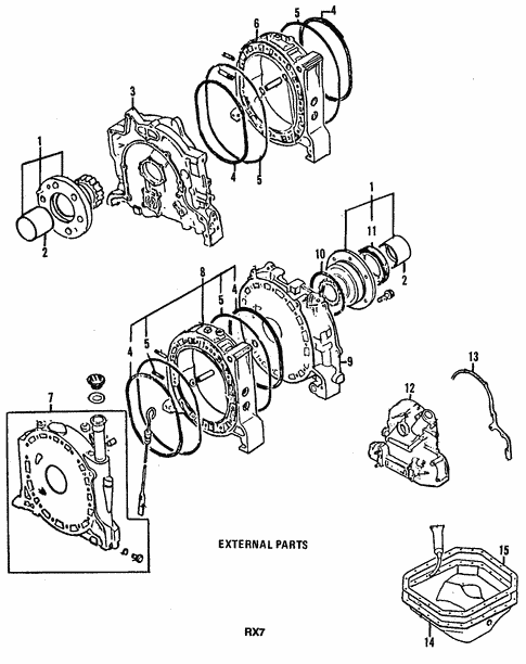 Genuine Oem Engine Parts For 1991 Mazda Rx 7 Turbo