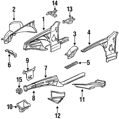 Structural Components Rails For 1996 Bmw 328is