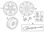 "Alloy Wheel, 20"" 5 Split-Spoke, 'Style 5011' - Land-Rover (LR074095)"