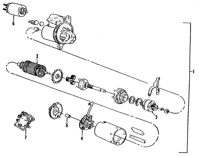 starter solenoid - ford (e8tz-11450-b)