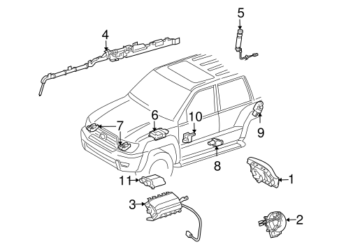 ELECTRICAL/AIR BAG COMPONENTS for 2010 Toyota FJ Cruiser #1
