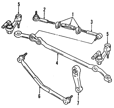 Oem 2001 Chevrolet Astro Steering Gear Linkage Parts