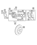 Rear Disc Brake Pad Kit, Magneti Marelli - Mopar (2AMV2563AA)