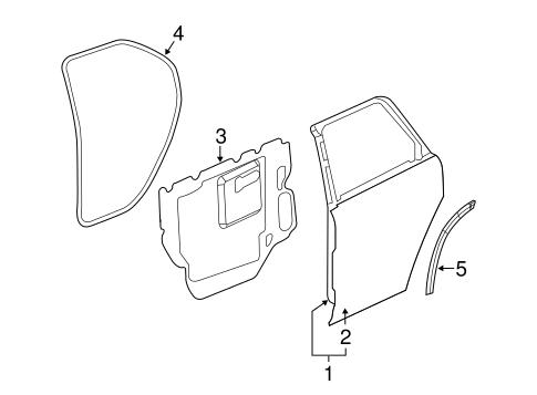 Chevy Equinox Door Parts Diagram