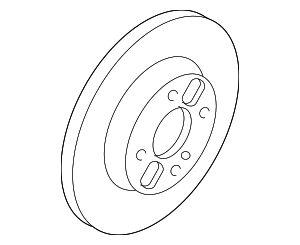 Disc Brake Rotor - Ford (7S6Z-1125-A)