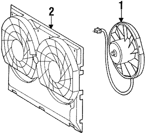 Condenser Fan for 1992 Mercedes-Benz 400 E #0