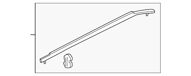 Molding Assembly L Slide Door Honda 72950 Tk8 A01
