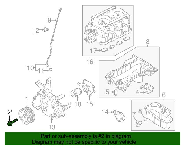 Genuine Nissan Crankshaft Pulley Bolt 12309-7S000