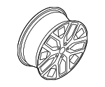 Wheel, Alloy - Volkswagen (5C0-601-025-BS-VC7)