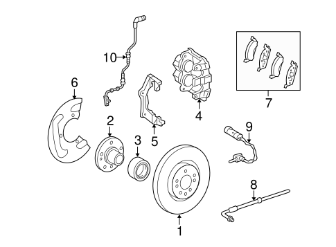 Brake Components for 2010 Mercedes-Benz ML 550 #0