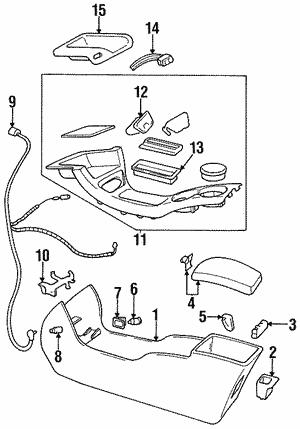 Center Console For 1997 Oldsmobile Cutlass Supreme