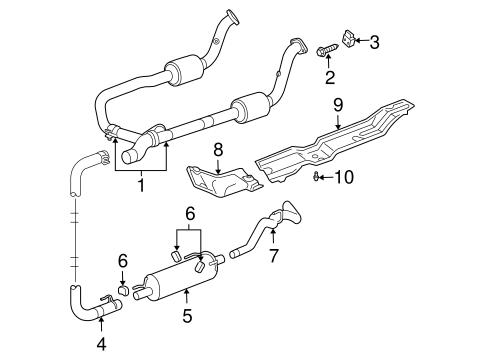 Exhaust Components for 2004 Dodge Ram 1500 | Mopar Parts