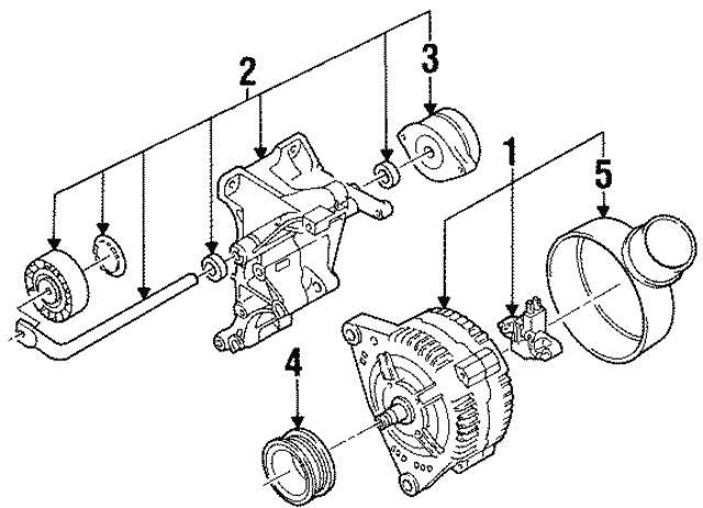 1995 1996 Volkswagen Passat Alternator Mount Bracket 028 903 143 Ad