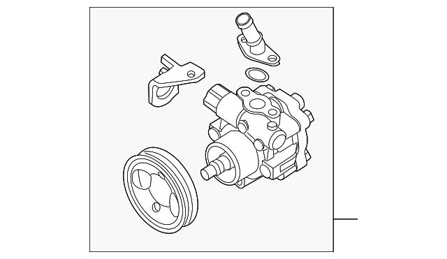 Genuine Nissan Power Steering Pump 49110 9ca0a