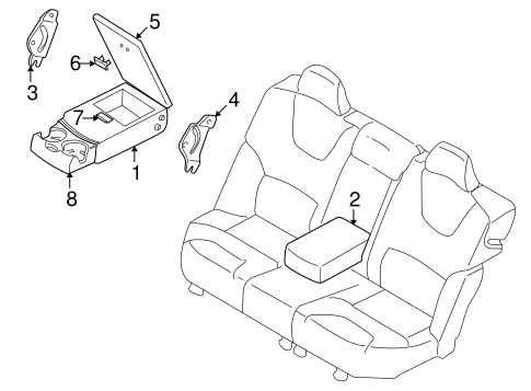Rear Seat Components For 2001 Volvo V70