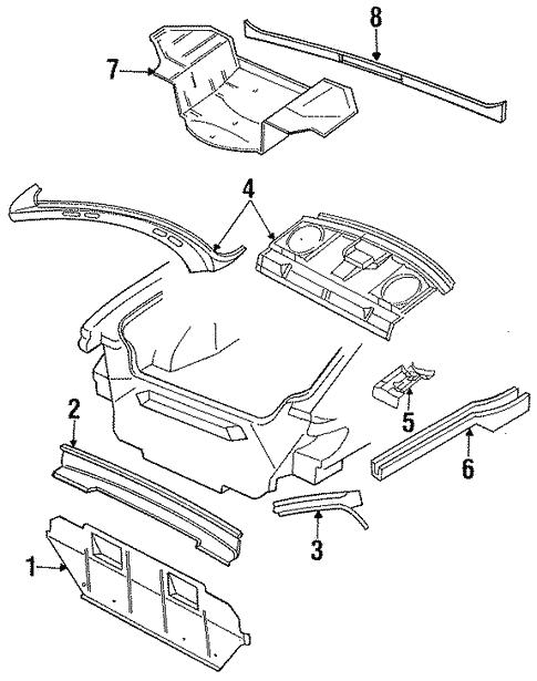 rear upper body for 1997 chrysler lhs