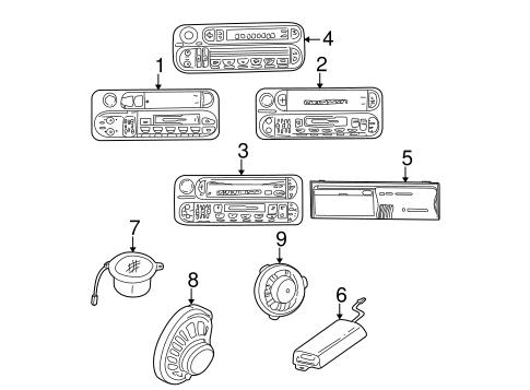 1999 2004 jeep grand cherokee dash tweeter speaker mopar genuine oem mopar 56038411ac. Black Bedroom Furniture Sets. Home Design Ideas