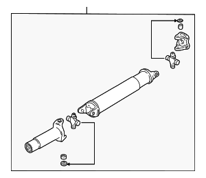 Drive Shaft Assembly - Mazda (1F71-25-100A)
