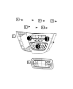 Clip, Center Bezel To I/P - Mopar (6510407AB)