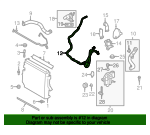Thermostat Unit Tube - Land-Rover (LR011856)