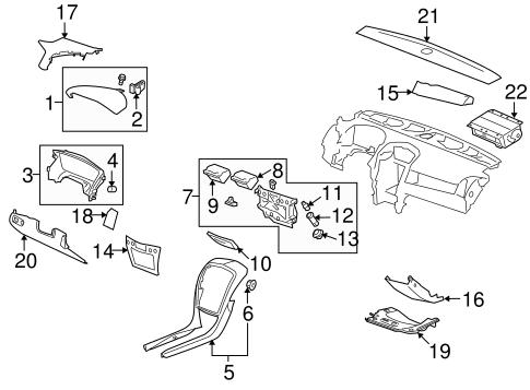 Oem 2008 Cadillac Srx Instrument Panel Components Parts