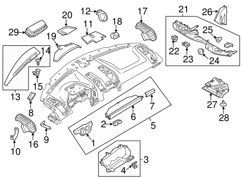 Instrument Panel Components For 2016 Porsche Boxster