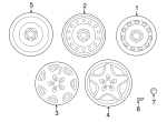 Wheel, Alloy - Subaru (28111FE490)