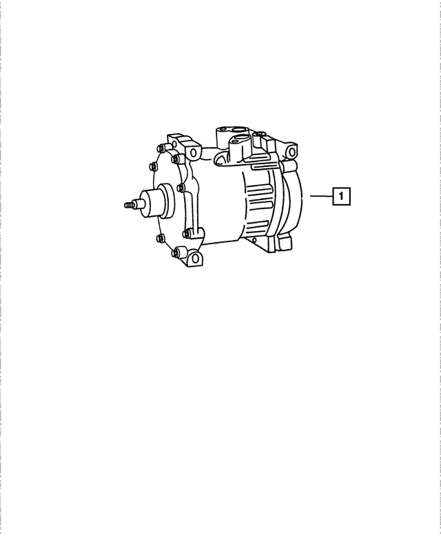 Air Conditioning Compressor - Mopar (55055339AH)