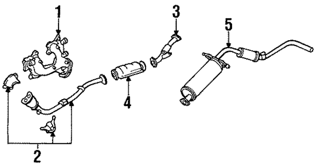 [DIAGRAM_09CH]  Muffler & Pipe - Nissan (20100-86G07) | Courtesy Parts | 97 Nissan Pickup 2 4 Exhaust System Diagrahm |  | CourtesyParts