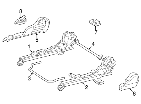 BODY/TRACKS & COMPONENTS for 1998 Toyota Corolla #1