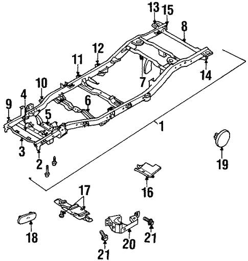 Frame Components For 1998 Isuzu Rodeo Isuzu Parts Center