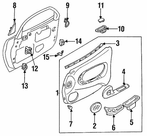 Genuine Oem Door Trim Panel Parts For 1993 Mazda Rx 7 Base