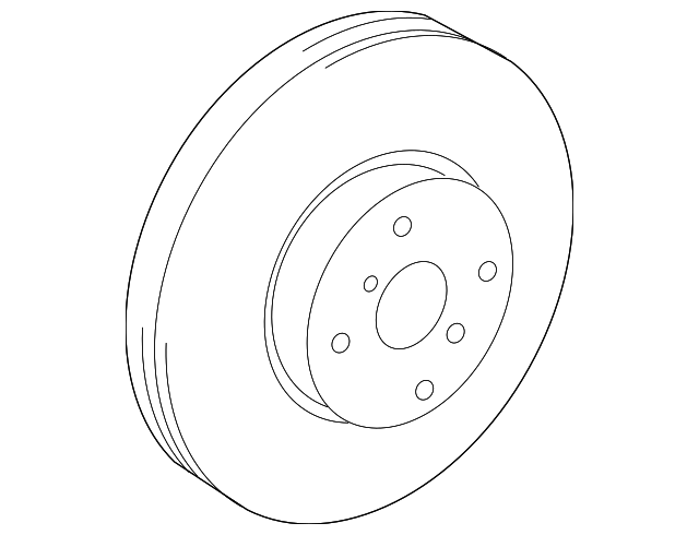 Front Brake Rotors for 2007-2013 2014 2015 2016 2017 2018 Toyota Prius C Yaris