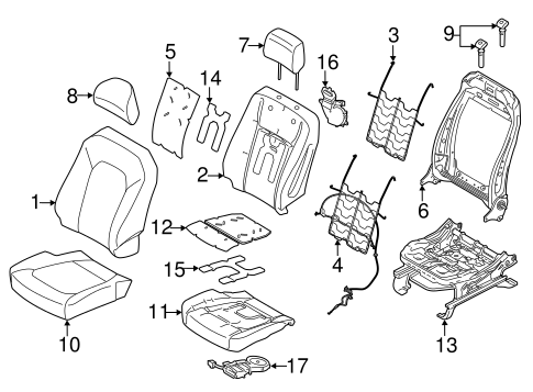 Front Seat Components For 2017 Ford F 150