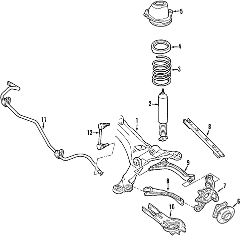 Rear Suspension For 2005 Ford Freestyle