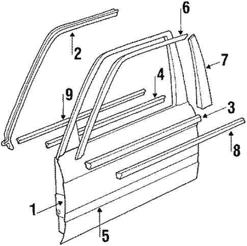Front Door for 1991 BMW 325i #0