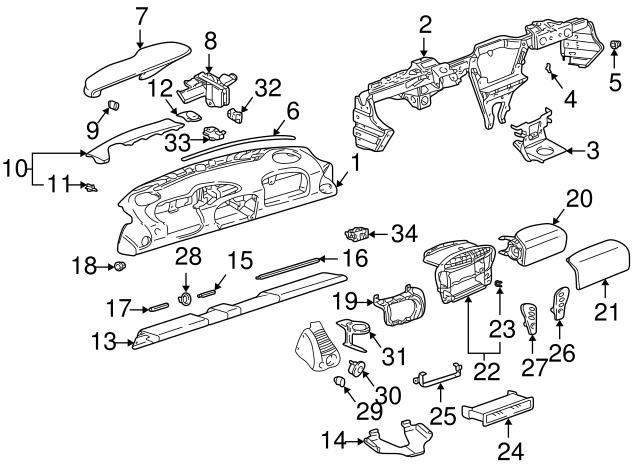 2000 2004 Porsche Instrument Panel 996 552 101 02 M31