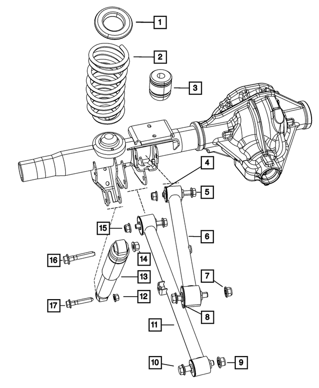 Coil Spring Rear Mopar 68042804AB