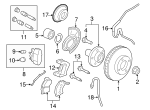 Disc Brake Pad Set - Ford (8M6Z-2001-A)