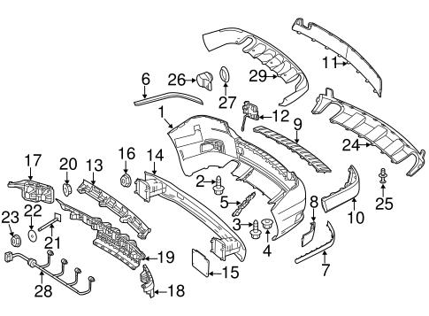bumper & components - rear for 2011 mercedes-benz glk 350 #0