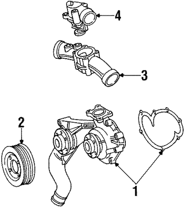Thermostat Housing - Mercedes-Benz (120-200-00-15)