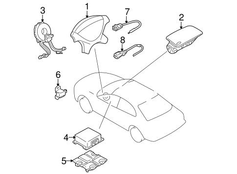 Air Bag Components For 2005 Mitsubishi Lancer Evolution