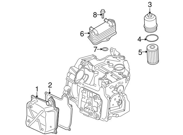 2007 2018 Volkswagen Oil Cooler Seal N 910 279 01