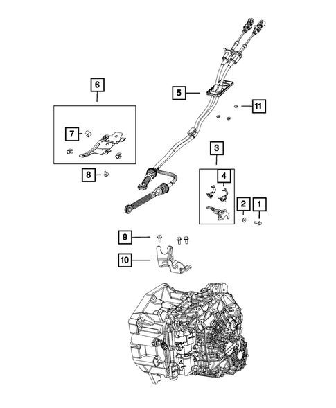 Gearshift Controls and Related Parts for 2015 Jeep Renegade #1