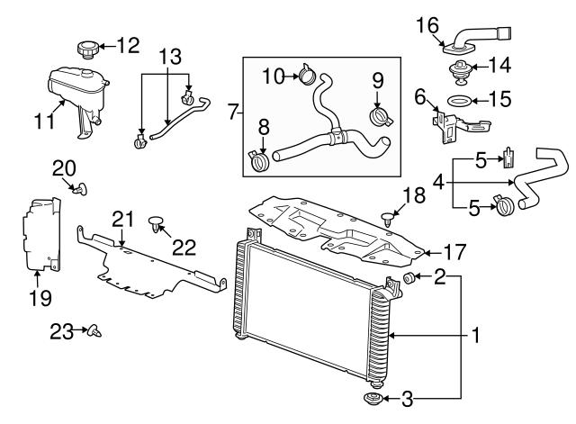 GM OEM Radiator-Side Baffle Right 15915520