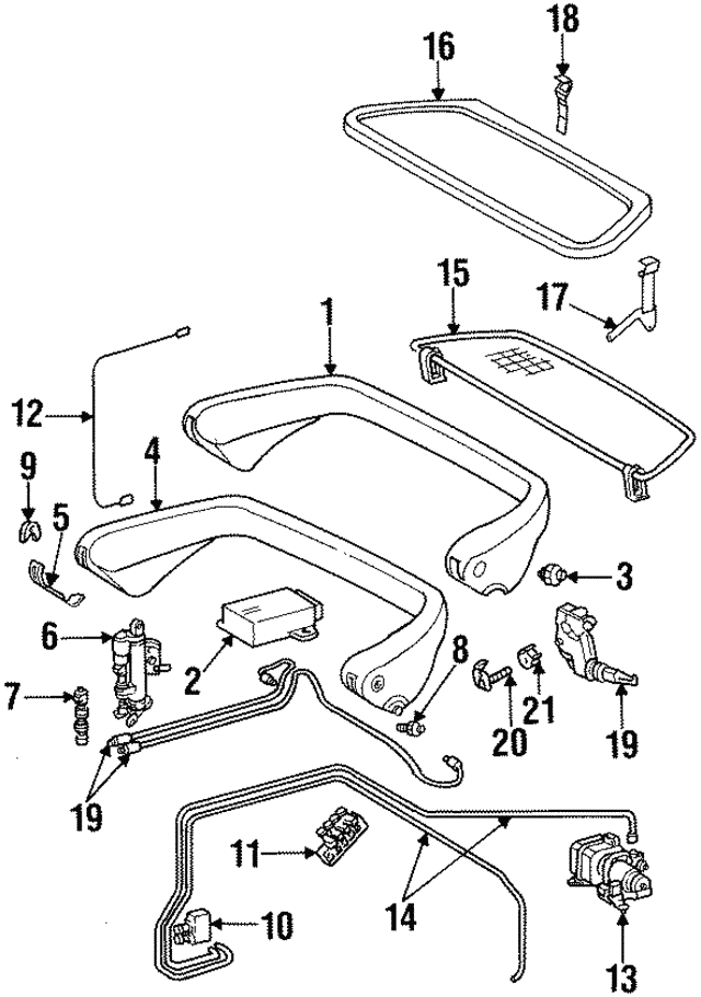 Frame Bracket - Mercedes-Benz (129-860-00-10)