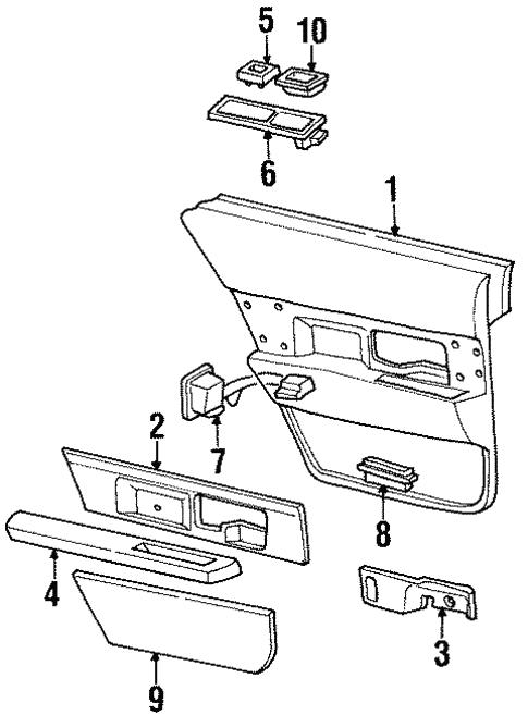 Interior Trim Rear Door For 1999 Buick Lesabre Gm