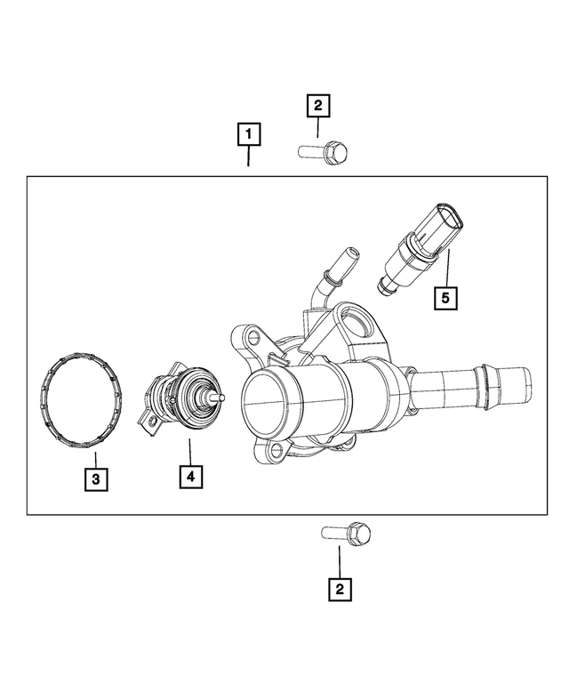 Thermostat Housing - Mopar (5047861AD)