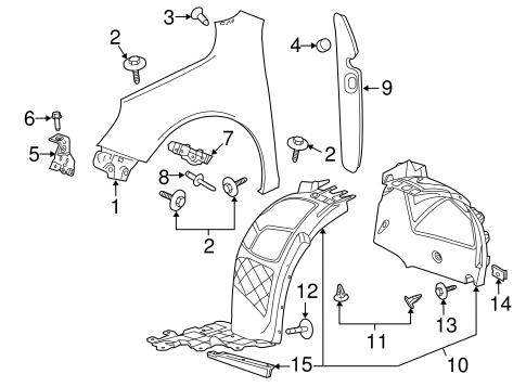 Oem 2015 Chevrolet Malibu Fender Components Parts
